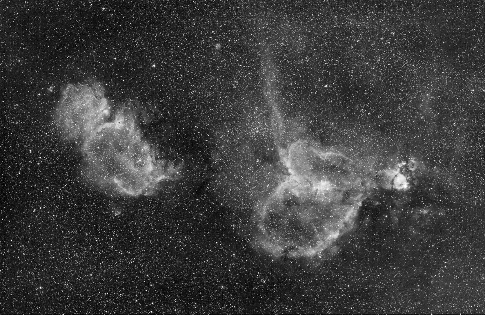 Heart and Soul Nebula - Pics about space